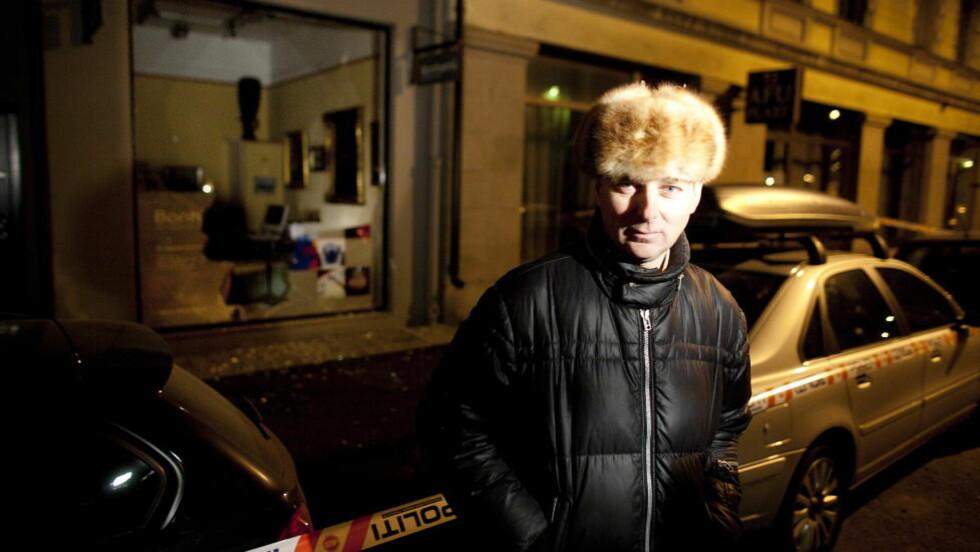 SJOKKBREKK: Eier av Nyborgs Kunst, Pascal Nyborg, verdsetter Munch-litografiet som ble stjålet fra galleriet i 2009 til mellom to og tre millioner kroner.    Foto: Bjørn Langsem / Dagbladet