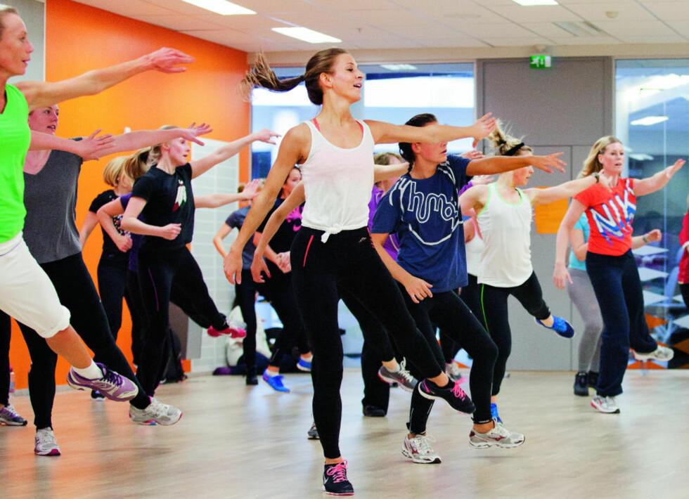 TRENDY: Dansetimer er blant årets største treningstrender. Foto: Elisabeth Sperre Alnes
