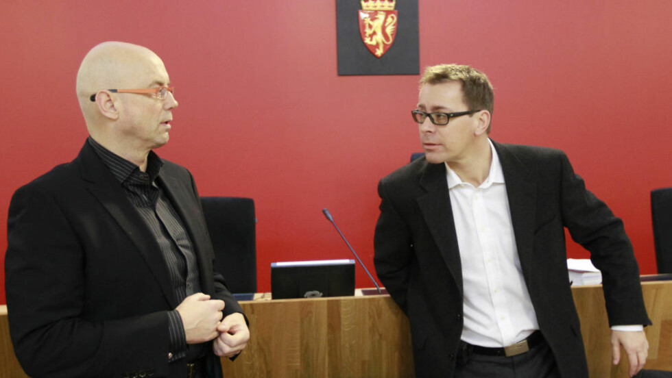 SAMMEN - OG UENIGE:  Henning Værøy (til venstre) og Pål Grøndahl er uenige om hvor den endelige konklusjonen på Anders Behring Breiviks tilregnelighet vil lande. Her - fra Lommenmannen-saken i 2010 - jobbet de sammen som rettsoppnevnte sakkyndige. Arkivfoto: Heiko Junge, NTB SCANPIX.