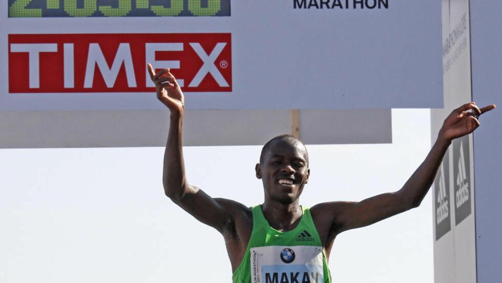 VRAKET: Patrick Makau er verdens beste maratonløper, men får ikke være med Kenya i OL. Foto: EUTERS/Tobias Schwarz