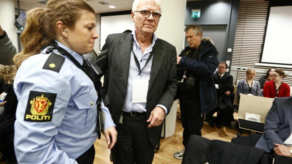 BOMBESKADD: Harald Føsker hadde ferie, men var innom jobben i Justisdepartementet for å printe noen dokumenter da bomben smalt 22. juli.  Foto: Håkon Mosvold Larsen / NTB scanpix