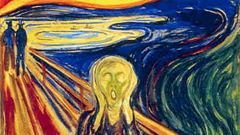 ETTERLYSER KUNSTREGISTER:  Frp-politiker Ib Thomsen etterlyser et norsk kunstregister, som kan kobles opp mot et internasjonalt. Det for å lettere kunne spore tapte kunstverk. Her er Munchs «Skrik», som tidligere er blitt stjålet.
