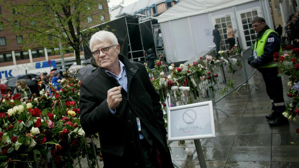 BEVEGET: Tidligere i dag vitnet Harald Føsker om terrorbomba. Så møtte han folkehavet. Foto: Torbjørn Grønning / Dagbladet