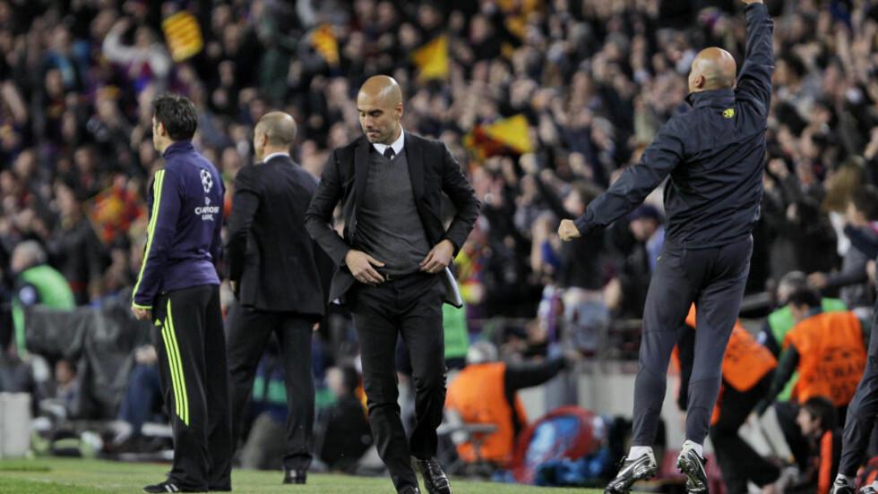 BLIR HAN I BARCA?: Barcelona-sjef Josep Guardiola er usikker på om han vil fortsette som trener for det spanske laget. La Liga-ekspert Magnar Kvalvik mener mye tyder på at han forlater klubben. Foto: AP Photo/Emilio Morenatti