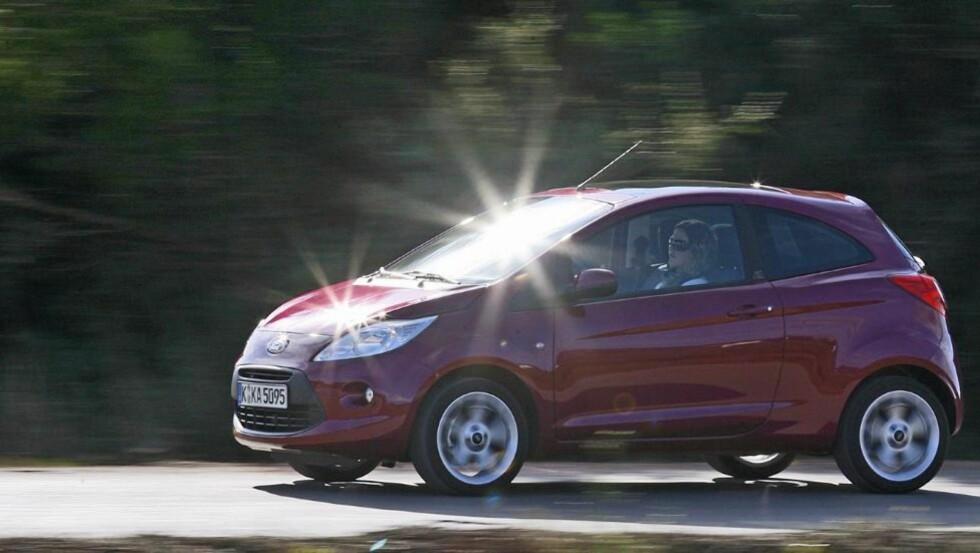 BEST: Ford Ka tar seieren i klassen for de aller minste bilene.
