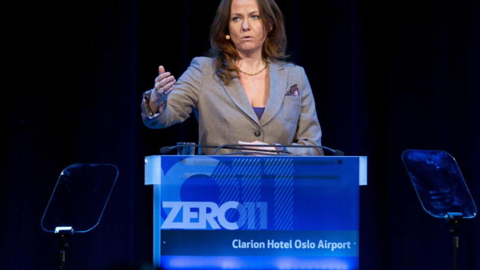 GÅR AV: Heidi Sørensen, her på Zerokonferansen på Gardemoen i 2011, går av som statssekretær. På sin Facebook-side forklarer hun hvorfor. Foto: Gorm Kallestad / Scanpix