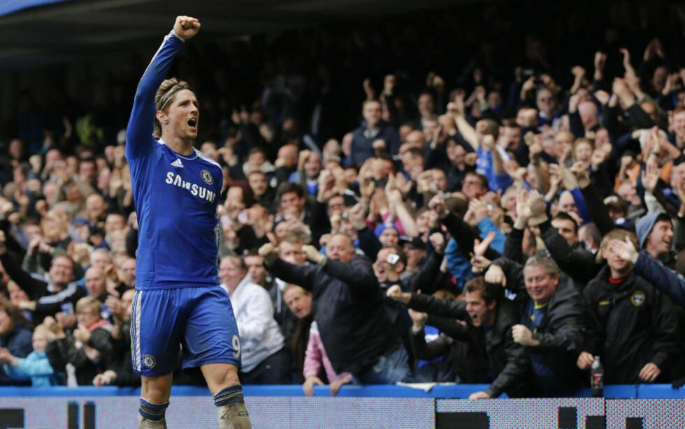 SCORET TRE: Chelseas Fernando Torres scoret tre mål da QPR ble slått 6-1. Foto: REUTERS/Eddie Keogh