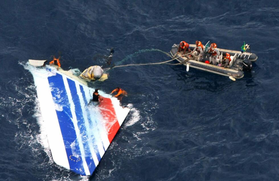 228 OMKOM: 216 passasjerer og 12 besetningsmedlemmer omkom da Air Frances rute 447 styrtet i Atlanterhavet mellom Sør-Amerika og Afrika 1. juni 2009. Foto: BRASILIANSK MARINE / AFP / NTB SCANPIX