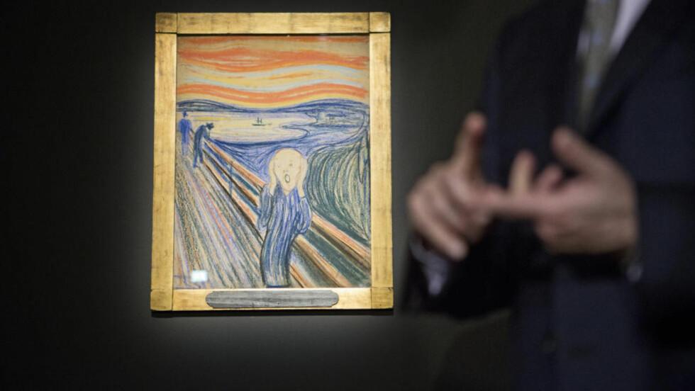IKKE BILLIG: Kunstskatten «Skrik» som ble solgt for svimlende 119,9 millioner dollar onsdag, er egentlig ikke det dyreste kunstverket solgt på auksjon likevel, dersom man regner inn prisstigningen. Foto: Pontus Höök / NTB scanpix