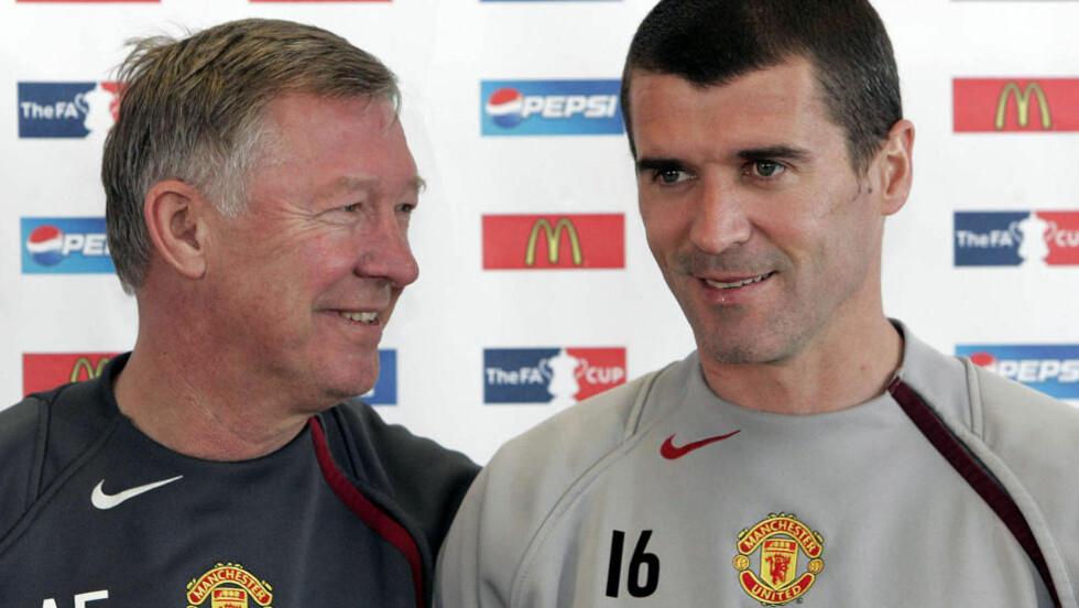 UNITED-LEGENDE: Men Roy Keane har ikke lenger et godt forhold til sir Alex Ferguson, og han tror de har nådd et punkt der de heller ikke kommer til å bli venner igjen. Foto: (AP Photo/Jon Super)