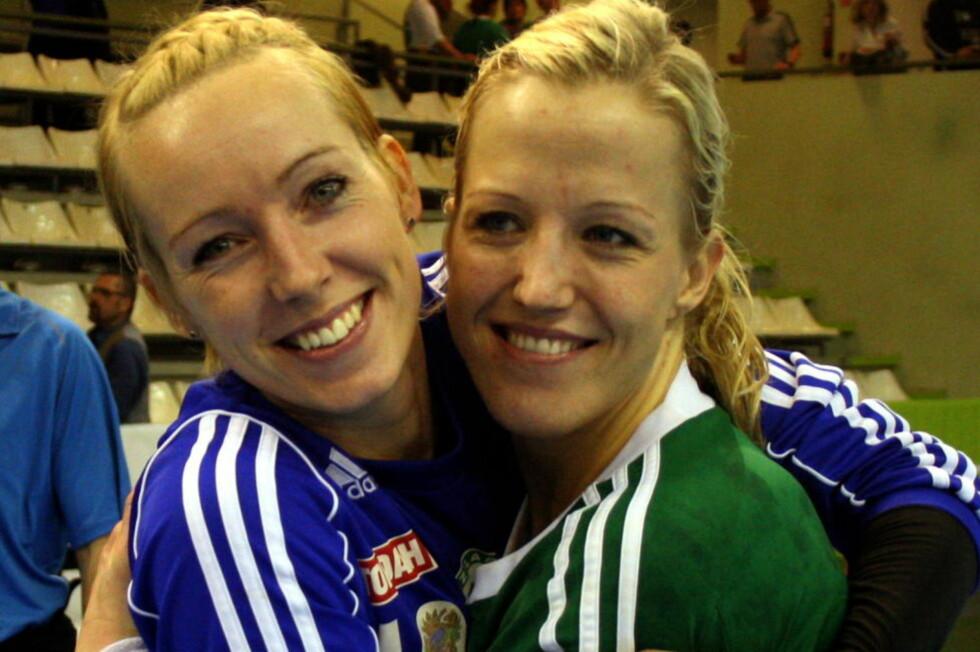 I CHAMPIONS LEAGUE-FINALE: Heidi Løke og Katrine Lunde Haraldsen møter Buducnost Podgorica i finalen i Champions League. Györ har tapt seks av seks europacupfinaler de har spilt tidligere.  Foto: Aleksandar Djorovic / Scanpix