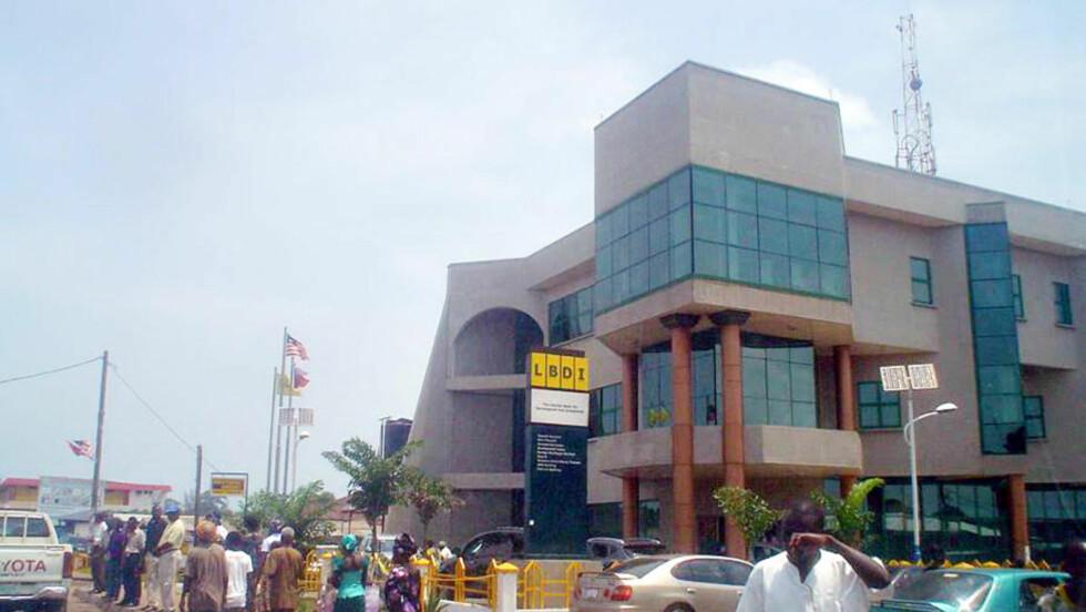 MYSTERIUM: I denne banken i Liberia stopper alle spor etter Anders Behring Breiviks pengeoverføringer til en mann i Monrovia. Foto: Dagbladet