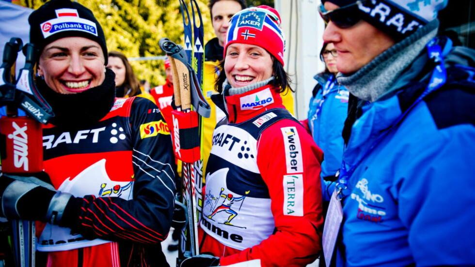 KLAR FOR NYE DUELLER: Justyna Kowalczyk er ferdigoperert, og håper at kneet skal holde til nye harde dueller med Marit Bjørgen kommende vinter. Foto: Thomas Rasmus Skaug / Dagbladet