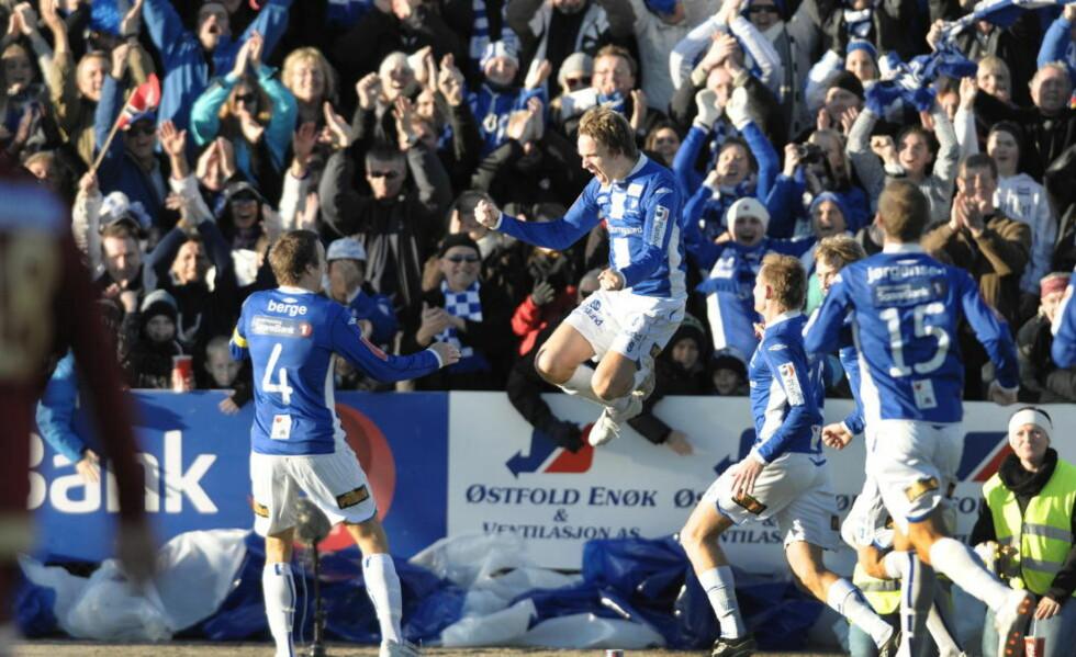 SLO TILBAKE: Morten Gievær og Sarpsborg lå under med to mål mot Ranheim, men kom tilbake og reddet ett poeng.Foto: John T. Pedersen/Dagbladet