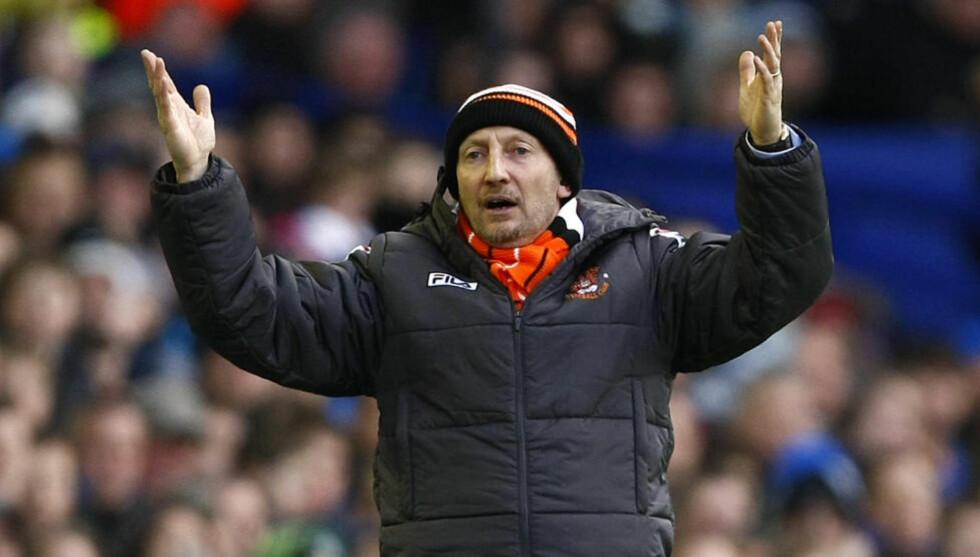 KLAR FOR WEMBLEY: Ian Holloway har ledet Blackpool til en ny opprykksfinale på Wembley. Der venter West Ham 19. mai.Foto: AP Photo/Tim Hales/NTB scanpix