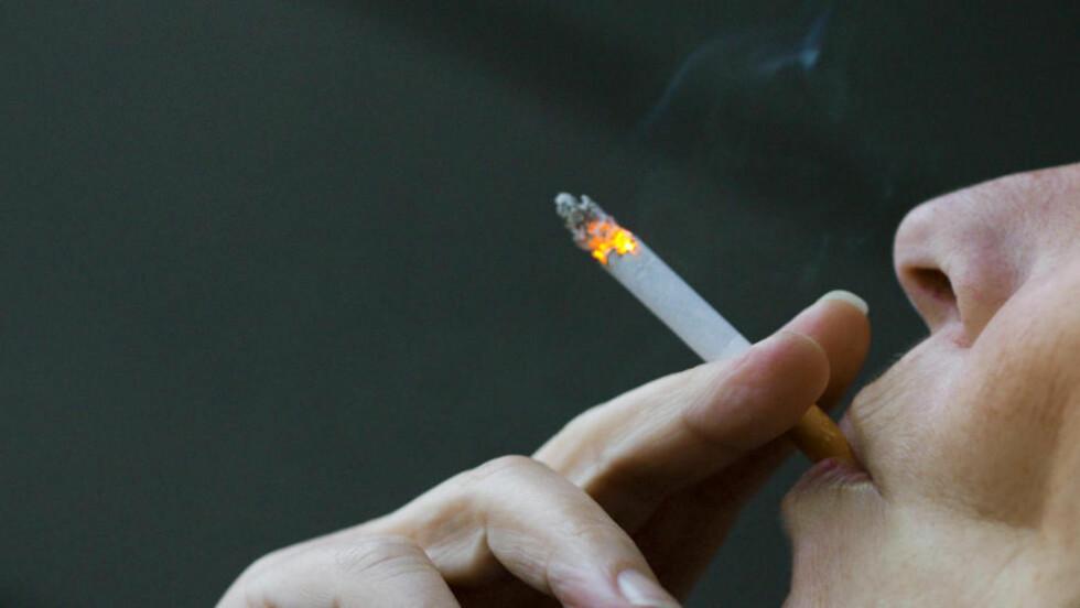 TAXFREE-TOBAKK: Kreftforeningen og Legeforeningen vil ha slutt på muligheten til å kjøpe billig tobakk på utenlandsreiser. Blant unge i alderen 16- 24 år er det i dag 26 prosent som røyker daglig eller av og til. Foto: Berit Roald / Scanpix