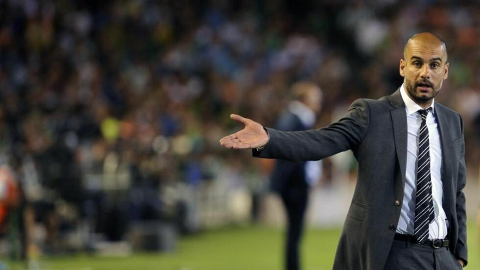 BARE UAVGJORT: Pep Guardiola og Barcelona måtte nøye seg med uavgjort borte mot Real Betis. Foto: AFP PHOTO/ CRISTINA QUICLER