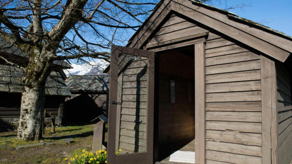 KOMPONISTHYTTA: I denne hytta fikk Edvard Grieg inspirasjon til og skrev også mange av sine mest kjente verker som Strykekvartett i G-moll - opus 27, Den Bergtekne, Album for mandsang - opus 30, og store deler av Holberg-suiten. Foto: ROGER BRENDHAGEN
