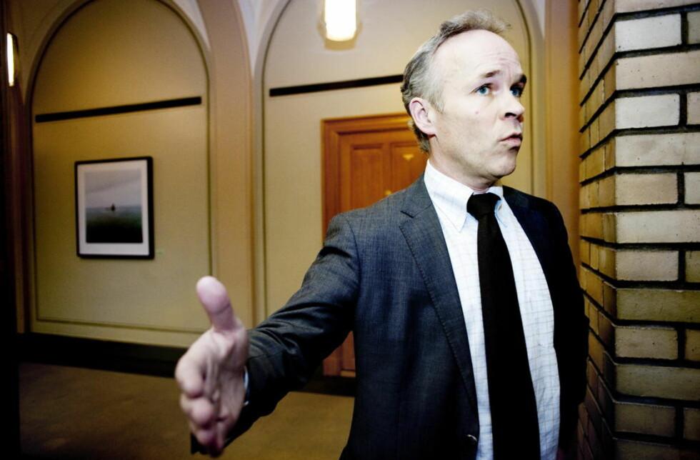 SKUFFET: Oposisjonen kritiserer regjeringens forslag til revidert nasjonalbudsjett. foto: Thomas Haugersveen / Dagbladet