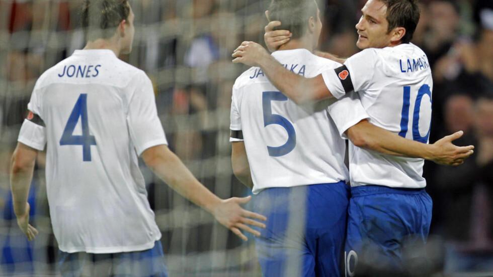 TROPPEN ER KLAR: Englands EM-tropp ble tatt ut onsdag. Foto: AFP PHOTO/IAN KINGTON