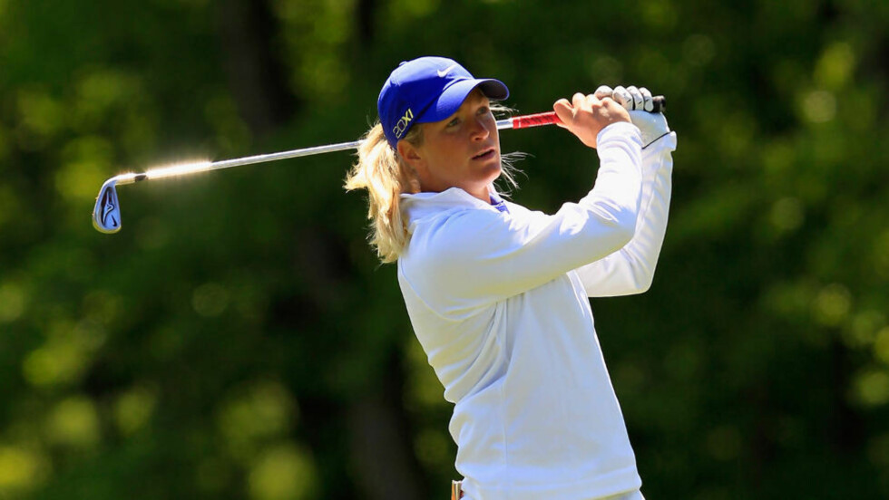 INGEN GOD FEIRING: Suzann Pettersen røk ut i 1. runde i matchplaymesterskapet i New Jersey i går. Foto: SCANPIX/Chris Trotman/Getty Images/AFP