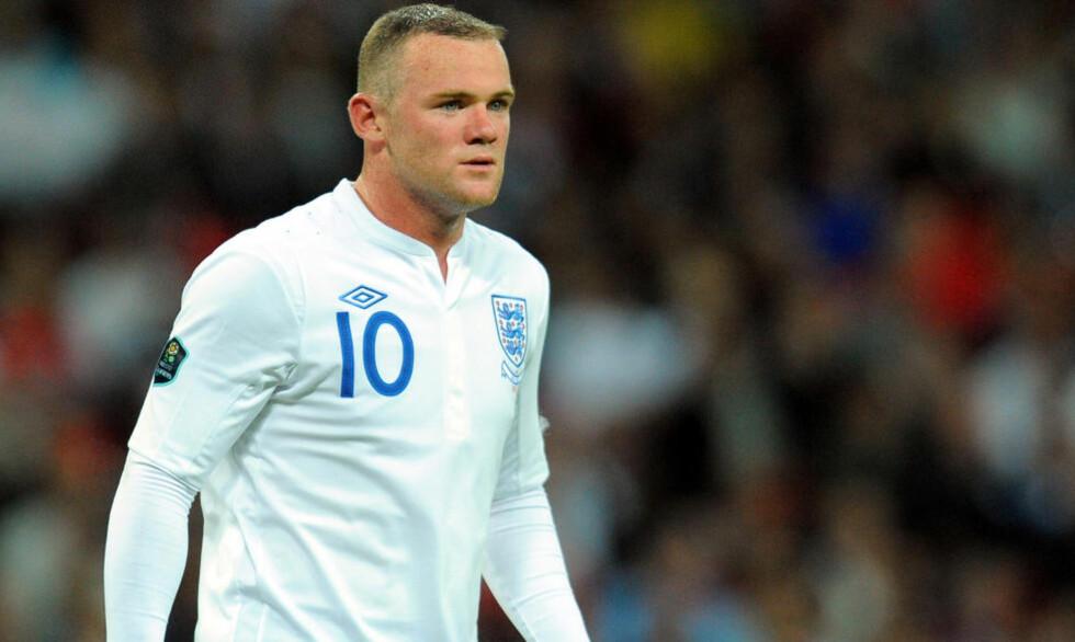 MÅ DROPPE ULLEVAAL: Wayne Rooney har 73 kamper for England. Den 74. kommer ikke mot Norge. United-spissen er skadet. Foto: AFP PHOTO/ANDREW YATES