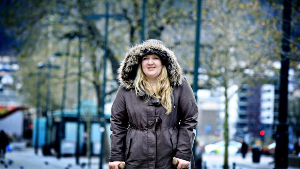VITNET: Marte Gustavsen Ødegården overlevde Utøya. I dag vitnet hun mot Breivik i Oslo Tingrett.  Foto: Jacques Hvistendahl