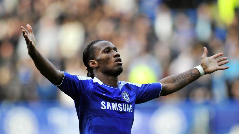FORLATER KLUBBEN: Chelsea bekrefter at Didier Drogba forlater Stamford Bridge når kontrakten utløper i slutten av juni. Foto:  AFP PHOTO/GLYN KIRK