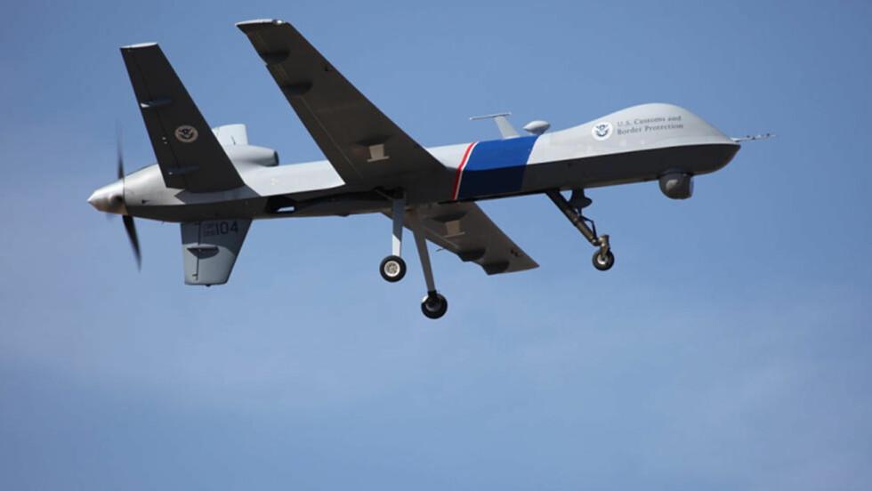 DRONE: En slik drone brukes av USA ved den amerkansk-kanadiske grensa. Foto: AP/