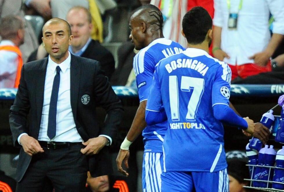 PÅ VEI UT: José Bosingwa og Salomon Kalou forlater Chelsea. Champions League-finalen i München ble duoens siste opptreden i blått.Foto: EPA/THOMAS EISENHUTH/NTB scanpix