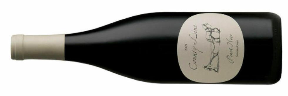 KENS UTVALGTE: County Line Sonoma Coast Pinot Noir 2009 passer godt til kylling, svin og kalv.
