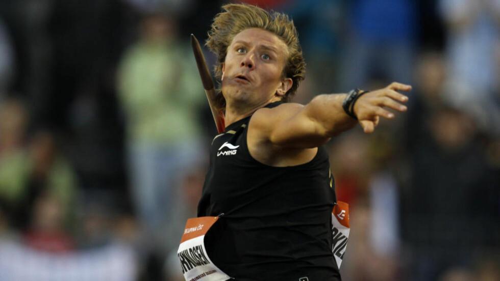 FORNØYD: Andreas Thorkildsen var fornøyd med 2. plass i Ostrava. Foto: AP Photo/Petr David Josek