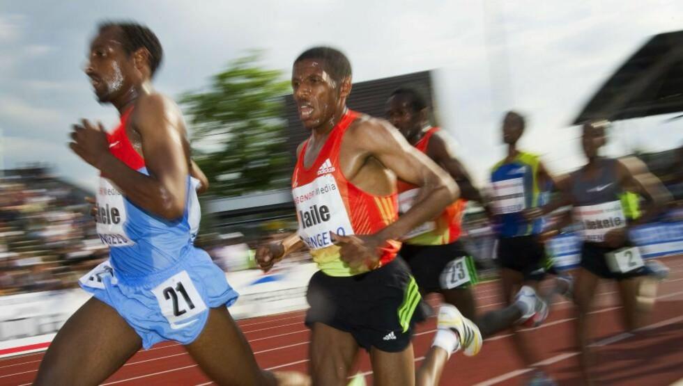 SKUFFET: Friidrettslegenden Haile Gebrselassie innser at det ikke blir noe London-OL på ham. Foto: SCANPIX/AFP/ANP/TOUSSAINT KLUITERS