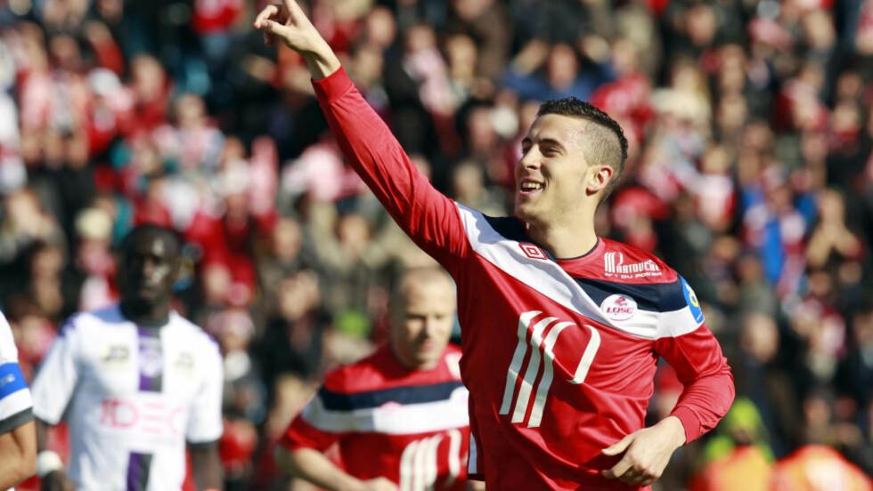 TIL CHELSEA: 21 år gamle Eden Hazard har vært på blokka til Englands største klubber, men belgieren landet til slutt på Chelsea. Foto: REUTERS/Pascal Rossignol