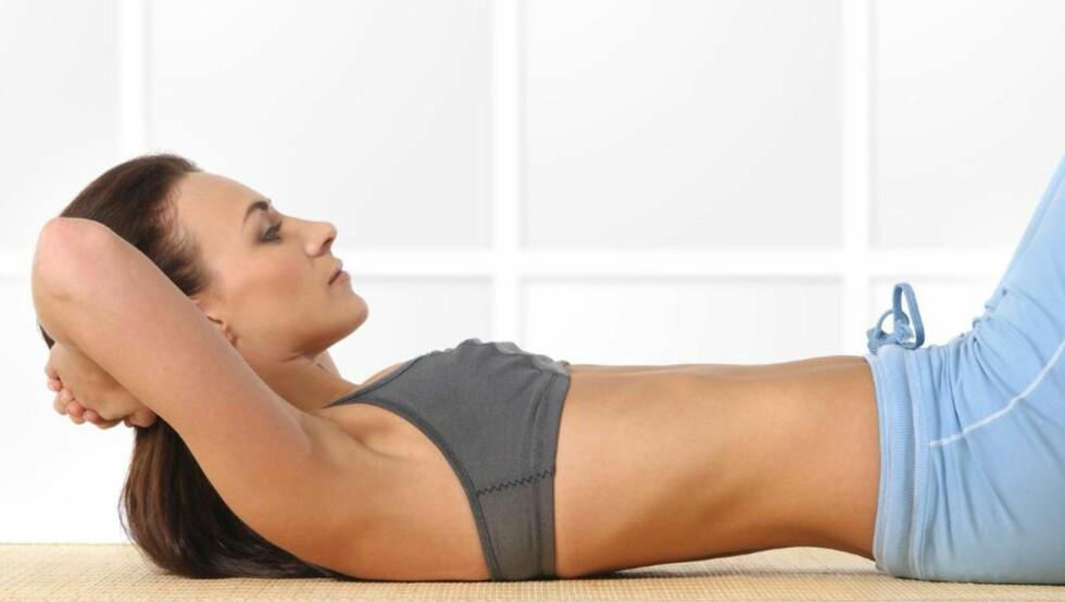 FLAT MAGE: Husk at hele kroppen må trimmes hvis du skal få flat mage innen sommeren.  Illustrasjonsfoto: Colourbox.com