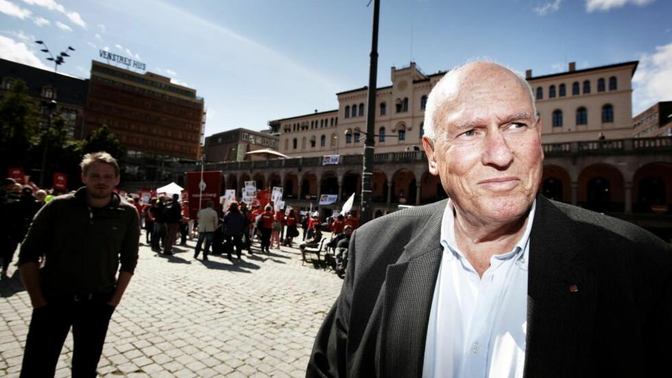 HÅP: LO-leder Roar Flåthen håper på snarlig løsning av streiken i offentlig sektor. Kravet er at arbeidstakerne må minst 4 prosent lønnsøkning. Foto: Christian Roth Christensen / DAgbladet