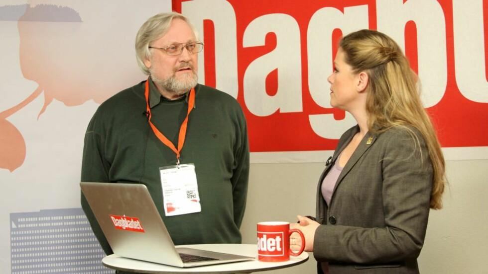 VITNER I DAG: Dagens første gjest i nyhetsstudio er Lars Gule, som skal vitne senere i dag.