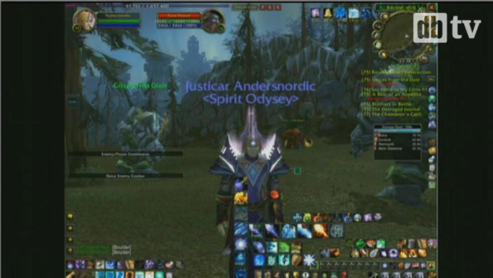 SLIK ER BREIVIK I WOW: Breivik kalte seg Andersnordic i dataspillet World of Warcraft. Nå må spillvennene i vitneboksen.