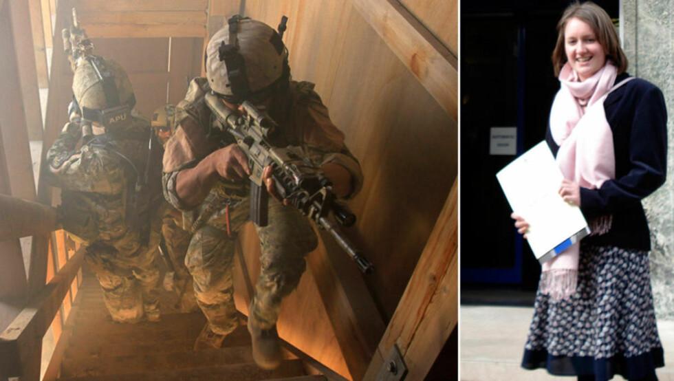 REDDET: Helen Johnston (til høyre) ble reddet av spesialsoldater etter at hun ble kidnappet. Foto: Reuters/Scanpix