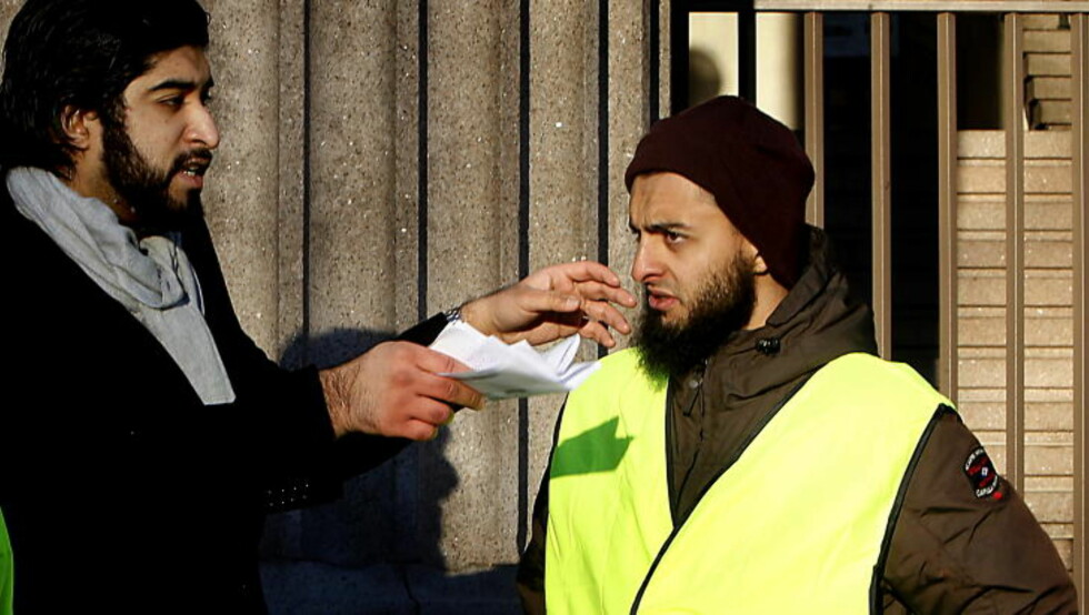 SLIPPER Å VITNE: Den islamske aktivisten Mohyeldeen Mohammad (t.h.) Foto: Bjørn Langsem / DAGBLADET.