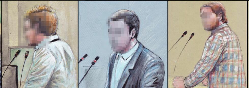 VENNENE: Flere av Breiviks venner har tidligere vitnet i tingretten og forklart om en kamperat som isolerte seg mer og mer. Tegning: Fedor Sapegin