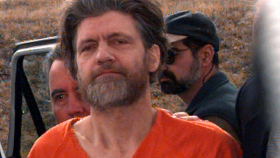 PÅGREPET: Ted Kaczynski fotografert i 1996. Han soner nå åtte livstidsdommer. I nesten 20 år jaktet politiet «UNA-bomberen» før de klarte å avløre ham. Foto: AP Photo/Elaine Thompson/NTB Scanpix