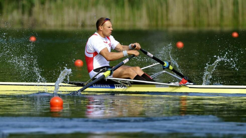 SLITER FØR OL: Olaf Tufte har problemer med magen og må kanskje droppe konkurranser i verdenscupen. Foto: AP Photo/Keystone/Sigi Tischler