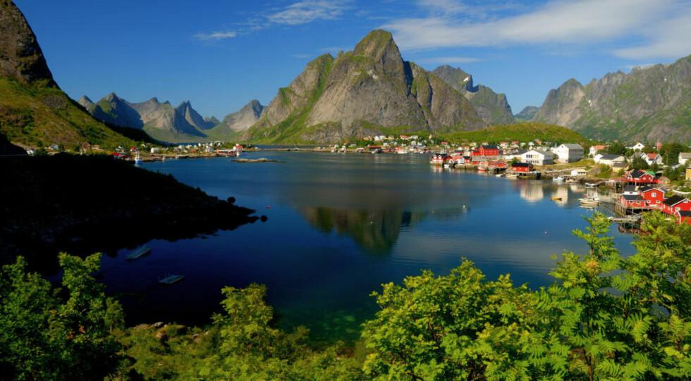 NATUR: Innovasjon Norge vil at nordmenn skal bli flinkere til å feriere i vårt eget land. Her er et bilde fra vakre Lofoten. Foto: COLOURBOX