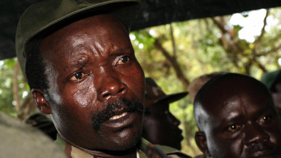 KONY: Det finnes få bilder av Joseph Kony, dette ble tatt i november i 2006, da han møtte journalister i Sør-Sudan. Foto: AFP PHOTO/ POOL/NTBSCANPIX