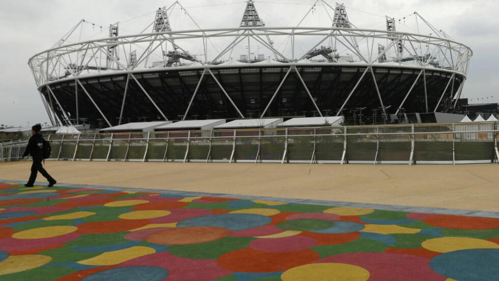 GULLARENA: Den nybygde olympiastadionen i London har plass til 80 000 på tribunen. Foto: EDDIE KEOGH/REUTERS/NTB/SCANPIX