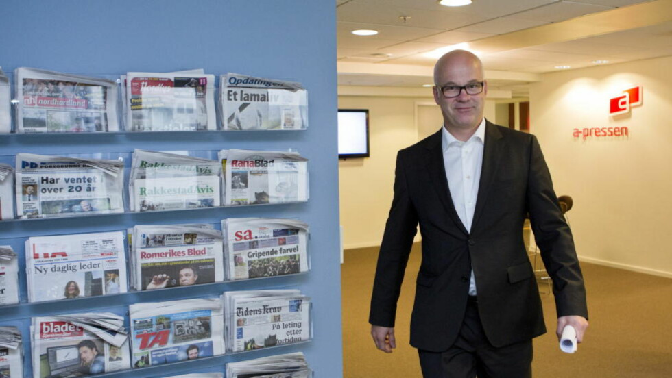 ÅPNER FOR SALG: Konsernsjef i A-pressen Thor Gjermund Eriksen tror ikke det vil by på problemer å selge Varden og Demokraten. Foto: Berit Roald / NTB scanpix