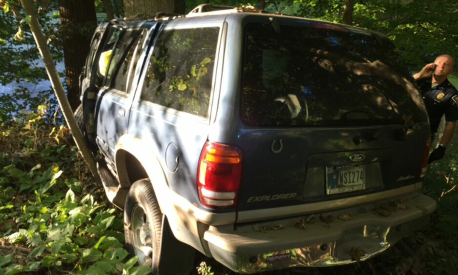 FUNNET ETTER TRE DAGER: Vraket av Nikki Reeds Ford Explorer ble funnet først tre dager etter ulykken. Foto: Delstatspolitiet i Indiana
