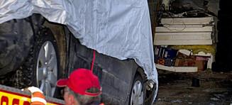 Her fraktes drapsbilen vekk fra foreldrenes garasje