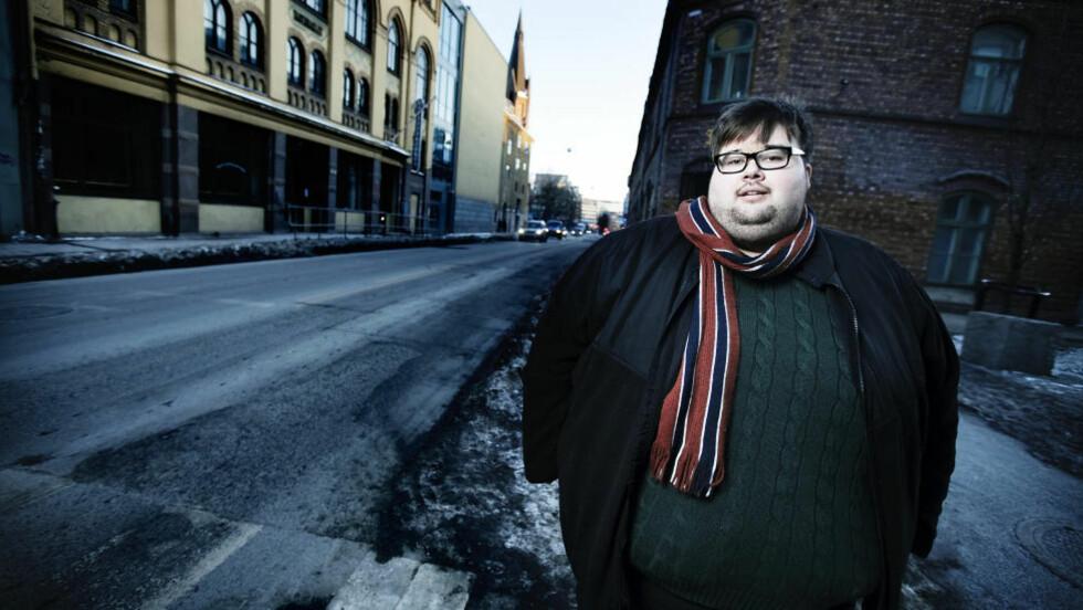 SKAL OPERERES: Jørgen Foss har slitt med sykelig overvekt hele livet. Nå skal han fedmeopereres. Foto: Christian Roth Christensen / Dagbladet